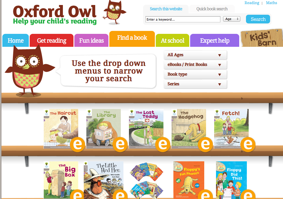 Oxford Owl free ebooks: iLearn Technology