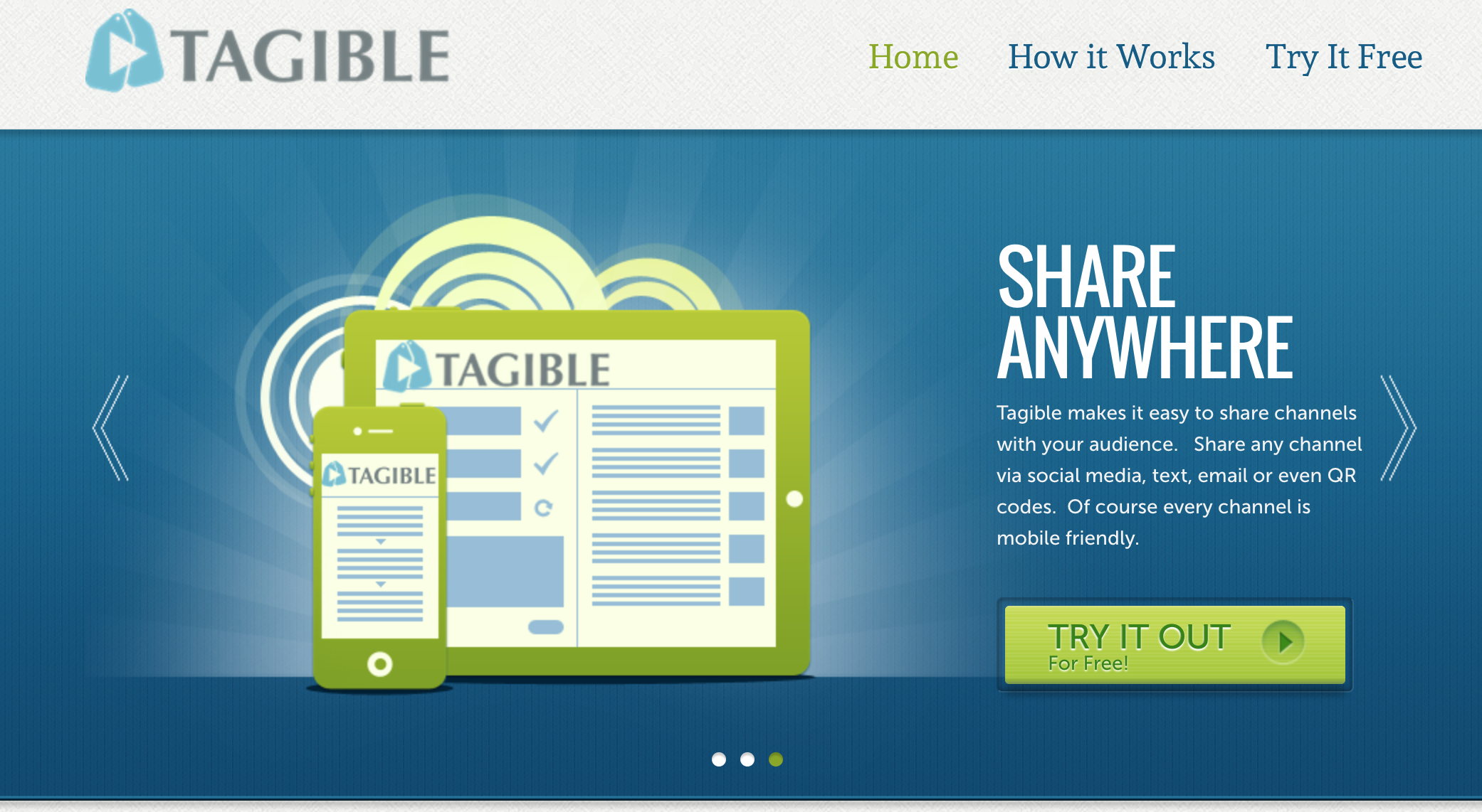 Tagible- Create customized video channels for your classroom/school