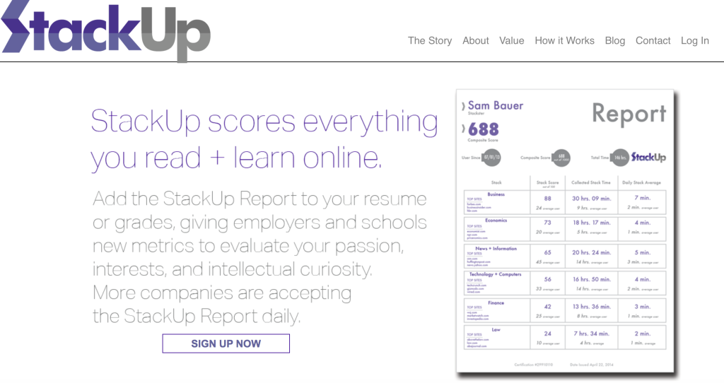 StackUp: Get credit for everything you read and learn online