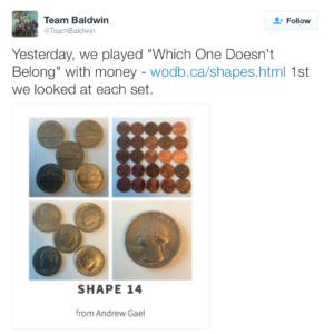 Which One Doesn't Belong? Math sets