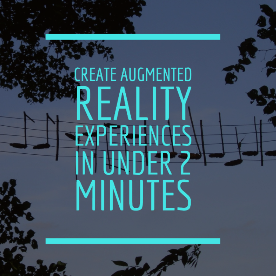 Create augmented reality experiences for your classroom in under 2 minutes